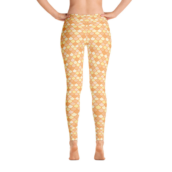 Maris Gold - Classic Mermaid Scales Leggings - Adult