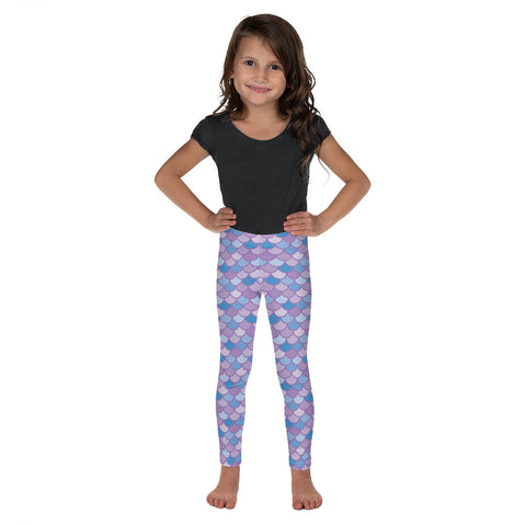 Pippa Purple - Classic Mermaid Scales Leggings - Kids'