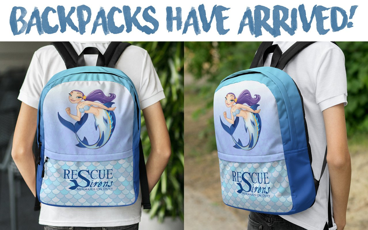 "Choose your ""Rescue Sirens: Mermaids On Duty"" backpack"