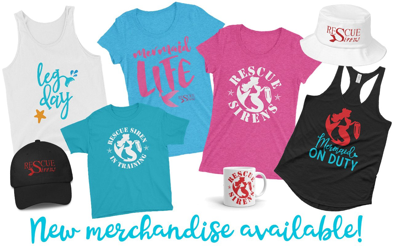 Mermaid-themed apparel and accessories!