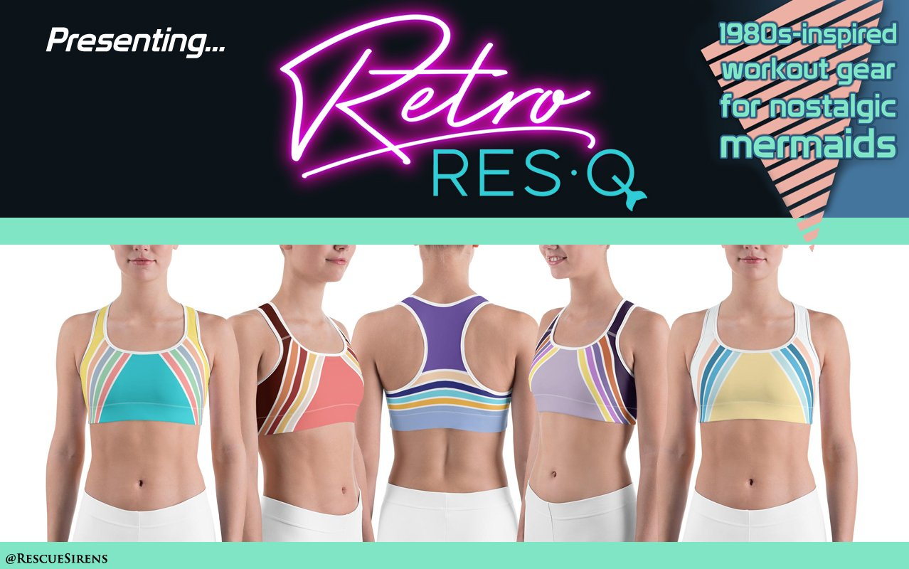 "Retro RES·Q - 1980s-themed workout gear from ""Rescue Sirens: Mermaids On Duty"""