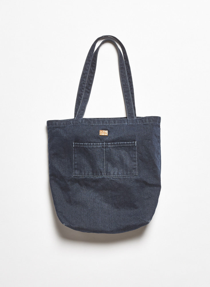 Washed Denim Tote - Indigo
