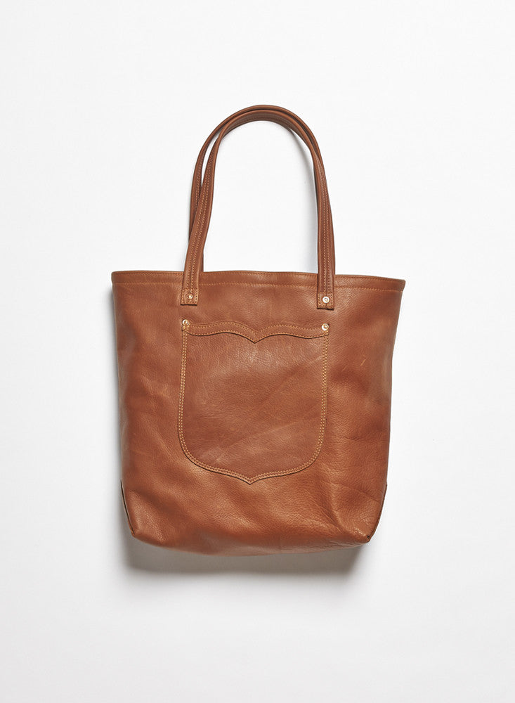 Leather Tote - Congac