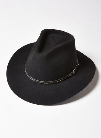 Wool Felt Hat in Black