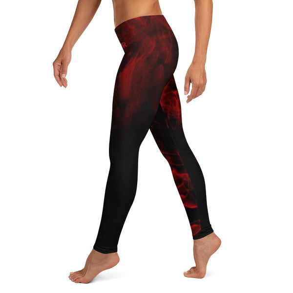 WOR Custom Red Smoke Leggings