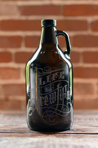 640z personalized and etched beer growler by Sigil and Growler