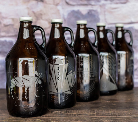 Canada Day engraved and personalized growler gifts
