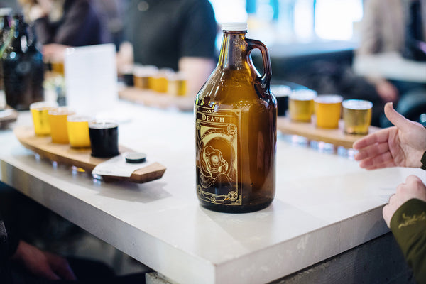 Personalized and engraved growlers in Vancouver by Sigil and Growler