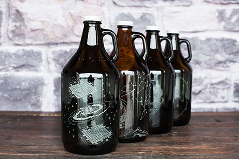 Outer Sphere Personalized Growler Collection with engraving customization by Sigil & Growler