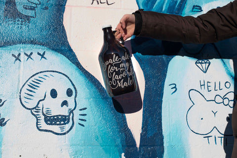 Growlers + Typography look awesome together.