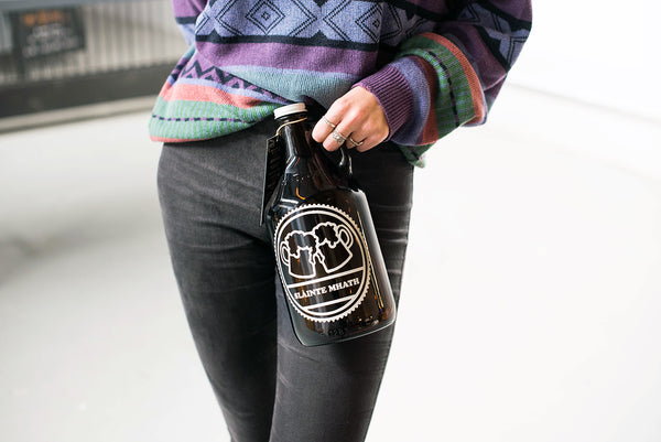 Personalized beer growler gift idea by Sigil and Growler