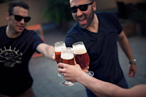 Cheers to friends, summer and craft beer.