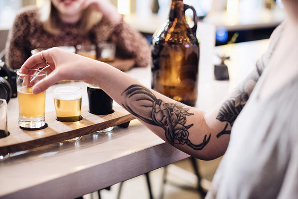 Craft beer flights the best of Vancouver Craft Breweries Stratchona Brewery