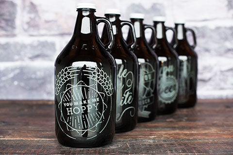 Personalized Valentines Day Growler Collection with Engraving by Sigil & Growler