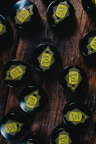 Rockin our logo, even our growler caps come with a twist. UV printed and cured in house, cause that's just how we roll