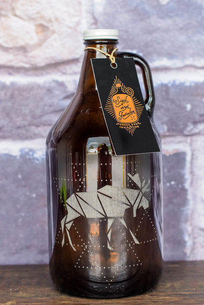 Canadian Moose beer growler engraving