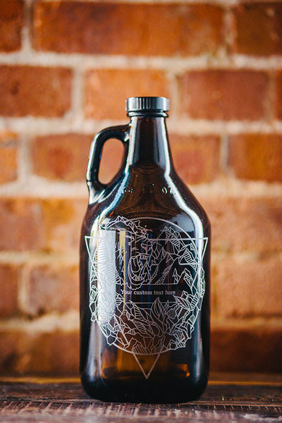 Elements Earth engraved growler design
