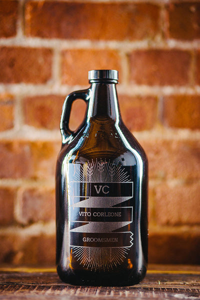 Customizable groomsmen growler design