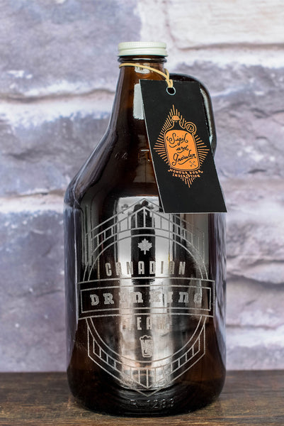Canada theme personalized engraved growler