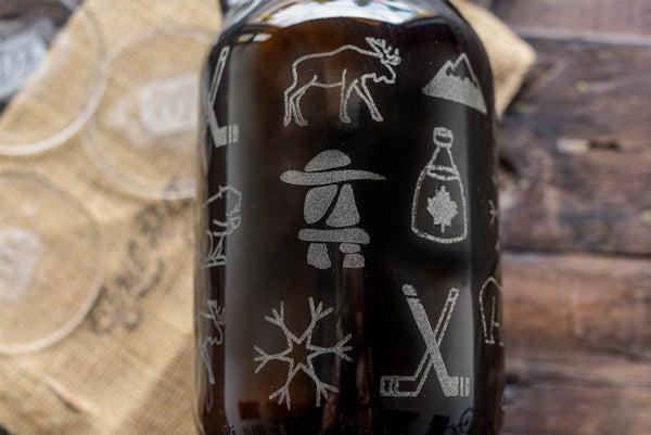 Canadian Icons customized beer growler