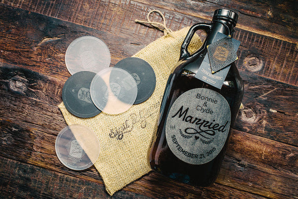 Just Married Wedding Gift Growler