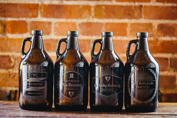 Custom Groomsmen Beer Growlers