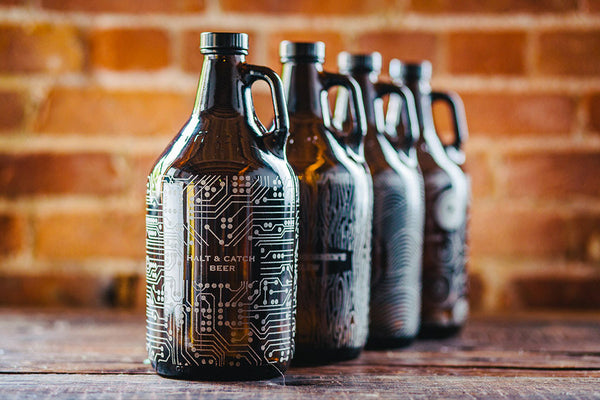 Full pattern custom craft beer growler designs