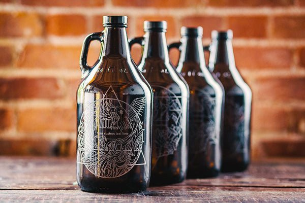 Elementus engraved beer growler collection