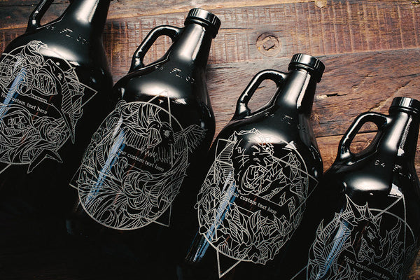 Customizable Elements beer growler collection