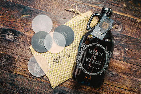 Wedding Gift Beer Growler Motif