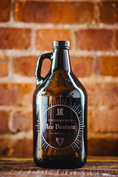 Customizable groomsmen growler