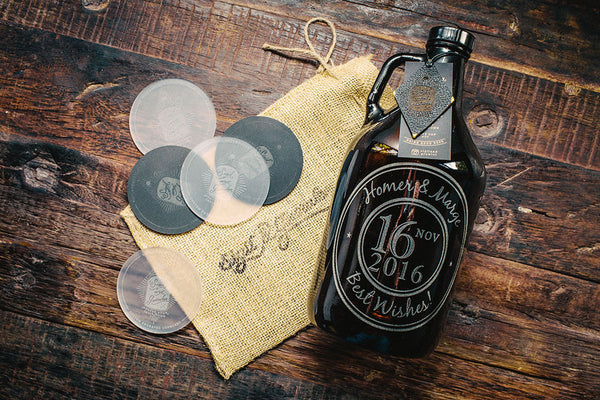 Customizable wedding growler design