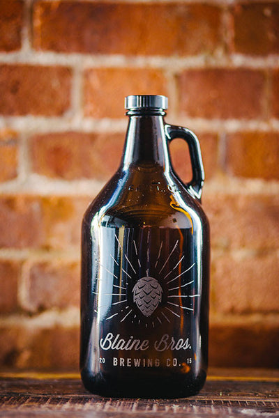 Home brew custom engraved hops beer growler