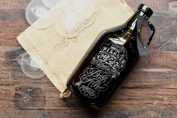 Personalized craft beer growlers by Sigil and Growler