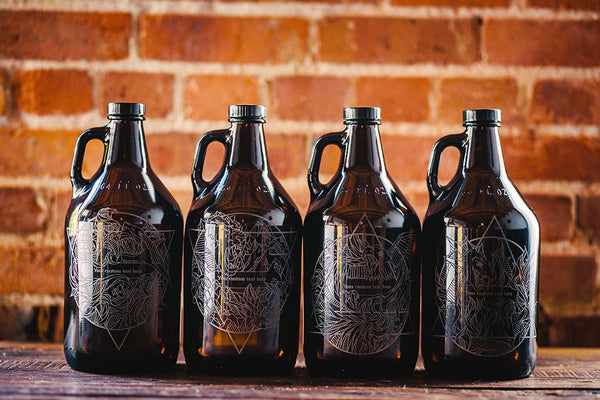 Elementus Customizable engraved growler collection