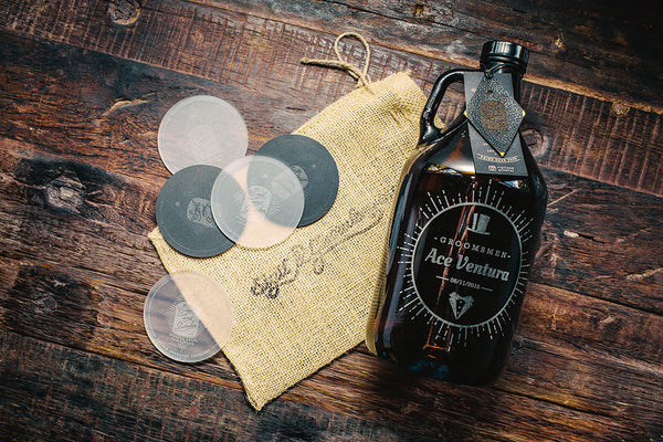 Groomsmen growler that is customizable