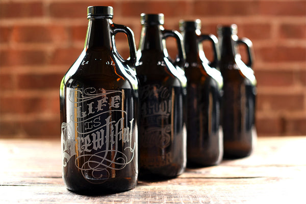 Craft beer custom engraved growlers
