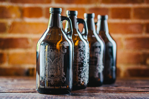 Hops and Wheat Beer Growler Collection