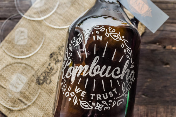 personalized resuable kombucha bottle