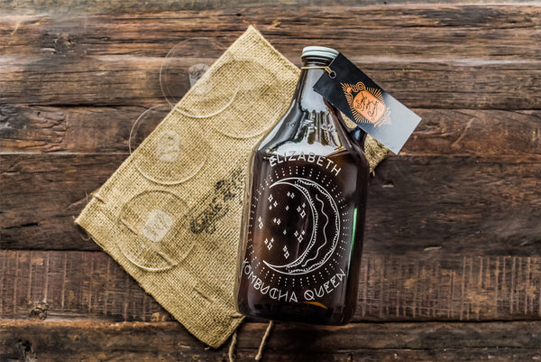 custom engraved kombucha growler design