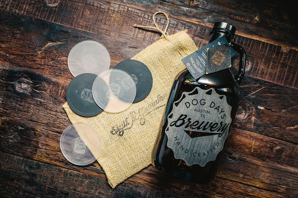 Home Brew Growler -  Bottle Cap Design