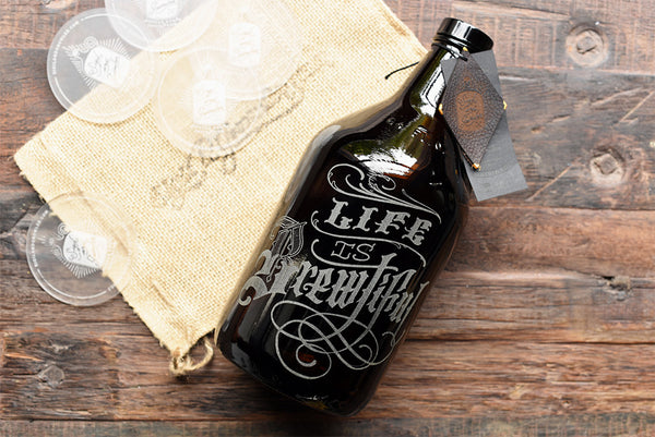 Beerography personalized growlers