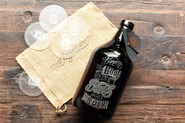 64 oz personalized custom growlers