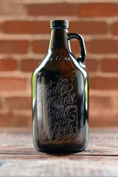 Custom etched growler by Sigil and Growler