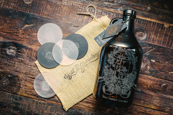 Customizable hops and wheat barrel growler design