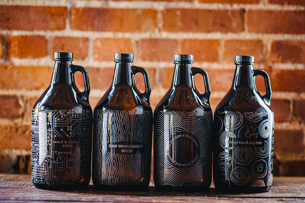 Full pattern engraved growler design