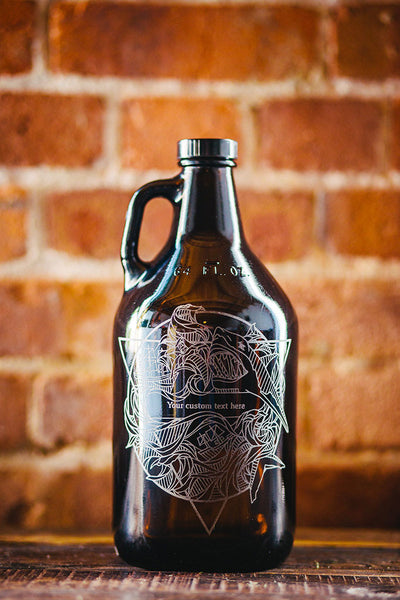 Elements Water customizable and engraved beer growler