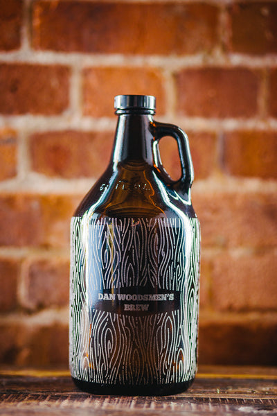Customizable growler with full pattern wood grain design