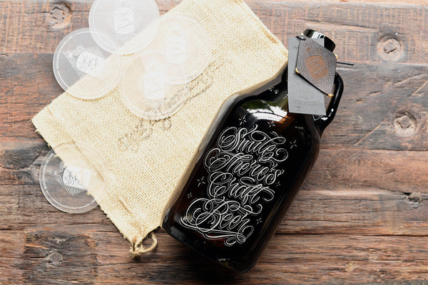 64 oz personalized craft beer growler
