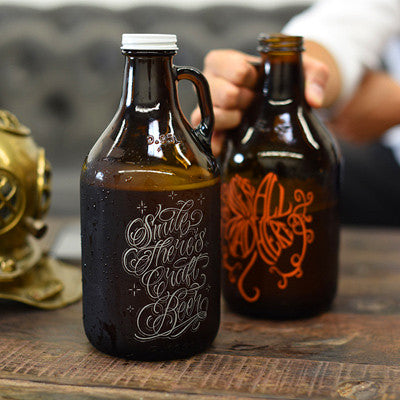 View photos of personalized and engraved custom growlers